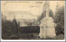 Potsdam Brandenburg AK 1901 gelaufen Sanssouci mit Denkmal Friedrich des Grossen
