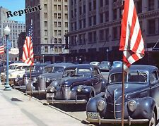 Historical Photo of Parking Lot Cars in Lincoln Nebraska Year 1942  8x10