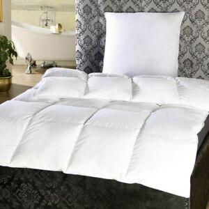 Duscher Betten-Set Feder Daunen Decke Bettdecke 135x200cm + Kopfkissen 80x80 cm