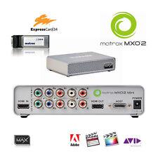 Matrox MXO2 Mini Max I/O-Box f. Notebook Expresscard schneller Encoder H.264 MP4