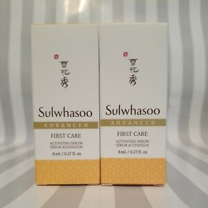 2 Sulwhasoo First Care Activating Serum Advanced~ Travel Size 0.27oz/8 ml