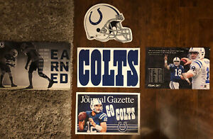 """Fatheads X2 INDIANAPOLIS COLTS Poster X3 NFL TEAM LOGO WALL DECAL 17"""" X 12"""" Indy"""
