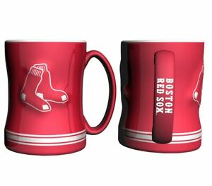 Boston Red Sox 14oz Sculpted Relief Coffee Mug MLB - RED VERSION