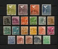 (YYAX 286) Germany 1947 USED Mich 943 - 962 Scott 557 - 577 Occupation Besetzung