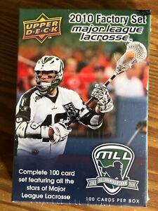 2010 Upper Deck  Major League Lacrosse Factory Set - 100 cards