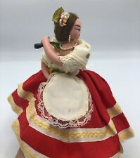 Vintage Layna Doll c.1950's Spanish Castanet Dancer 9 inches Made in Spain