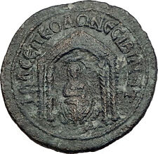PHILIP I the ARAB 244AD Nisibis Authentic Ancient Roman Coin Tyche TEMPLE i63323