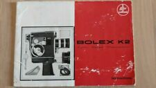 Paillard Bolex K2 St8 Camera Instructions