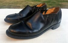 PATRICK COX Women's Sz 5 Black Leather Slip Ons Elastic Ankle Darts Leather Sole