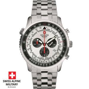 Swiss Alpine Military by Grovana 7078.9132 Chrono silber Herren Uhr NEU
