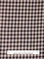 Homespun Fabric - Black Cream Homespun Check Plaid AE Nathan #1485-99 - Yard