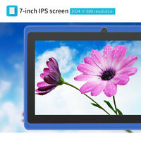 "7"" Google Android 4.4 KitKat Tablet PC Quad Core 8GB Dual Camera Bluetooth Wifi"