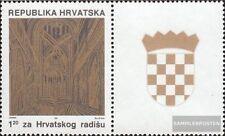 Croacia Z8C II con ornamento (completa.edición.) nuevo con goma original 1991 Ge