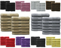 LUXURY 650 GSM PACK OF 12 100% COTTON FACE CLOTH TOWELS FLANNELS WASH CLOTH !!!