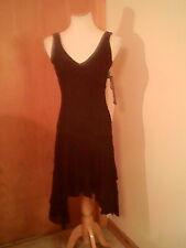 Alyn Paige brand women's black dress, S, spaghetti straps, V- neck, nylon, lined