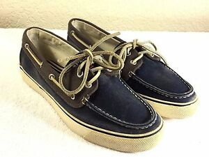 Sperry Top-Sider Marine canvas men's boat shoes size 9 M good shape
