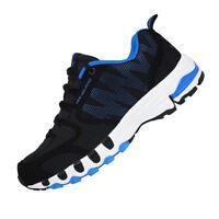 DELOCRD Adulte Chaussures de sports outdoor, Noir&Bleu (FR 44.5 = Asie 47) L1A1