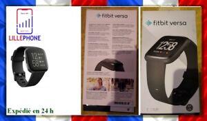 Fitbit Versa Santé Fitness Smartwatch montre connectée Noir/Carbone Aluminium