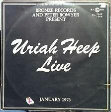 Uriah Heep - Live 2 LP VG TD 1243/1244 Vinyl 1973 Korea Press Rare