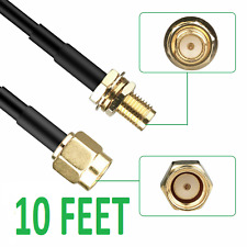 10ft 3M Antenna Extension Cable RP SMA Male to Female Adapter Wireless Router
