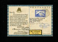 Zeppelin Sieger 21A 1928 America Flight Germany Post on MESSE KARTE