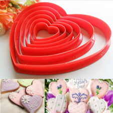 6 Size Heart Shape Cookie Cutter Pastry Jelly Chocolate Mould Sugarpaste Tools