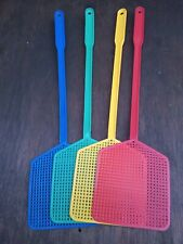 More details for 4 fly swats brightly coloured flyswats  bug swatters non toxic pest control 44cm