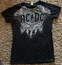 AC/DC Tultex  Concert tour Black Ice t shirt Medium Cotton EUC Women's