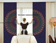 Indian Mandala Bedroom Curtains Tapestry Cotton Window Treatment Curtain Set