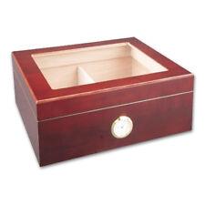 Zigarrenhumidor Holz kirschfarben mit Außen-Hygrometer, inkl. Befeuchter