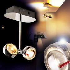 LED Lámpara de techo diseño color cromo focos ajustables comedor cocina pasillo