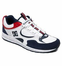 Tg 42 - Scarpe Uomo Skate DC Shoes Kalis Lite SE White Red Blue Sneakers Schuhe