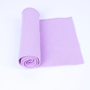 Cotton Stretch Knit Sweater Jacket Waistband Cuffs Legs Ribbed Trim Rib Fabric