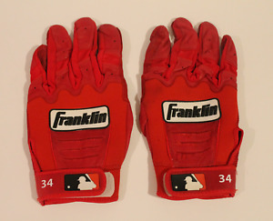 David Ortiz game used worn Boston Red Sox batting gloves! Authentic! 4377
