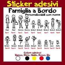 FAMIGLIA A BORDO Adesivo personalizzato - Stickers vari colori - Senza fondo