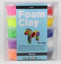 Foam Clay Basic 10 Farben 10x35g lufttrocknende Modelliermasse Kugelknete