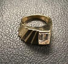 Custom made ring 14k yellow gold emerald cut 3.05 carat EGL certified