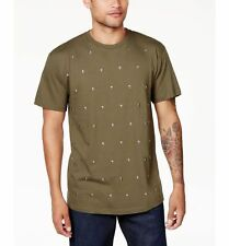 NEW $99 SEAN JOHN Men GREEN SKULL STUDDED SHORT-SLEEVE CREW-NECK TEE T-SHIRT 4XL
