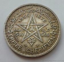 1956 Morocco 500 Francs .900 Silver Coin