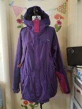PATAGONIA VTG Classic Raincoat Hoodie WindbreakerJacket Women Purple Nylon L GUC