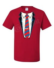 Shirt and Tie T-Shirt Office Suit Casual Funny Tee Shirt