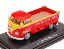 Volkswagen VW T1 Pick Up Coca Cola Yellow & Red 1:43 Model MOTORCITY CLASSICS