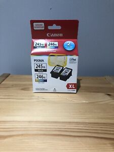 Canon PG-245 XL/CL-246 XL (8278B005) Black/Color Ink Cartridge Combo Pack...