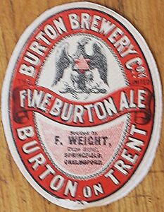 Burton Brewery Co Fine Burton Ale bottle label