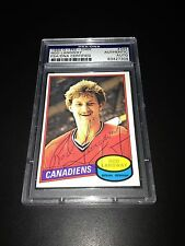 Rod Langway Signed 1980-81 O-Pee-Chee OPC Rookie Card PSA Slabbed #83427309