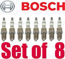 Set of 8 OEM Bosch Super YTTRIUM Spark Plug F8DC4 Mercedes W124 R129 W140 W210