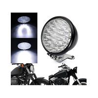 """5"""" Black billet motorcycle LED headlight Harley cruiser Chopper Bobber custom"""