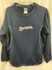 Majestic Milwaukee Brewers Thermabase Long Sleeve Shirt Sweatshirt Small Men's