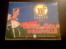 2 Decks Piatnik Golf Ladies Hotel Du Golf Deauville Playing Cards Austria