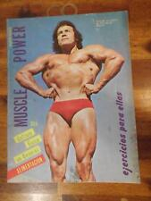 MUSCLE POWER bodybuilding muscle magazine OSCAR ALVAREZ/Arnold 2-77 (Espanol)